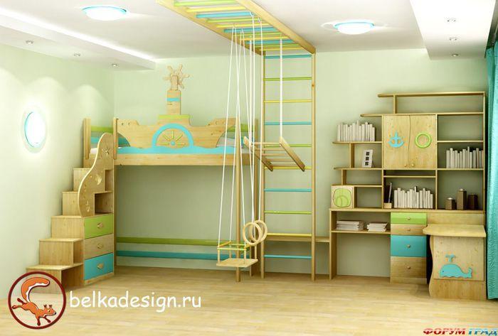 кровать-чердак двухярусная кровать (45) (700x473, 46Kb)