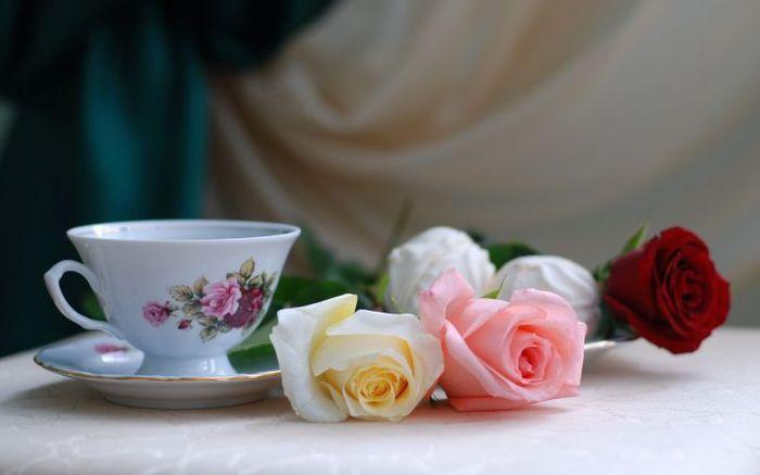 Rosa, Romance, Roses, Кофеварка, Роза, Чай, Романс - обои из категории