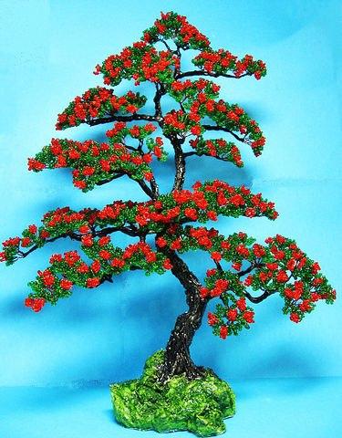 Денежное дерево бисером своими руками