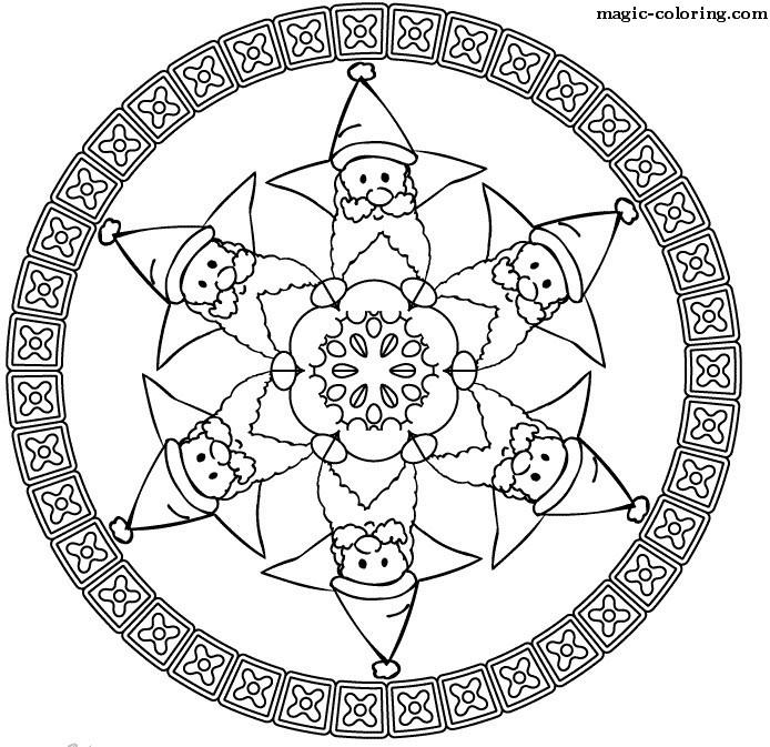 Превью christmas mandala coloring pages 6 (694x673, 155Kb)