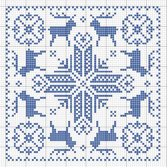 Валентинка (счетный крест)