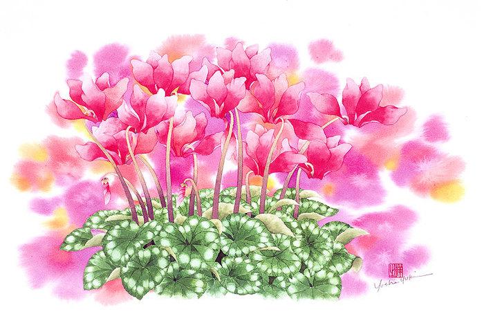 цветочные акварели Ибараги Йосиюки 3 (700x467, 107Kb)