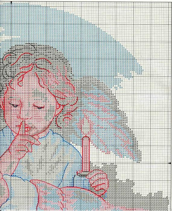Схемы для вышивки крестом мой ангел 734