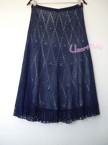 юбки схемы вязания спицами.