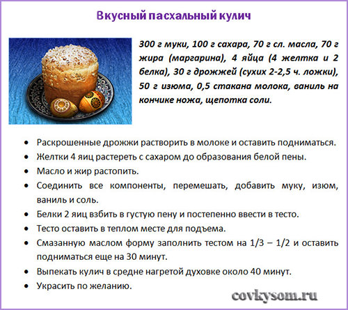 Рецепт самого вкусного кулича рецепт пошаговый