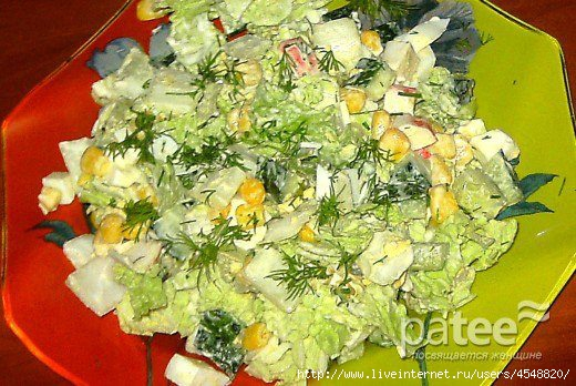 Салат огурец капуста китайская