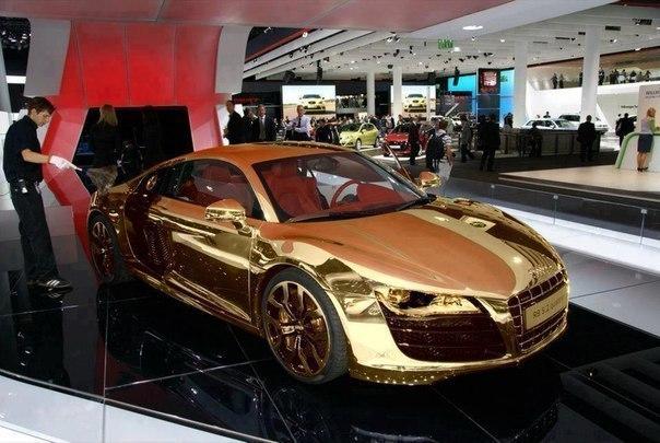 золотая Audi (604x405, 68Kb)