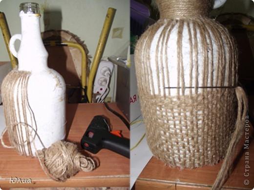 Бутылка своими руками из шпагата мастер класс