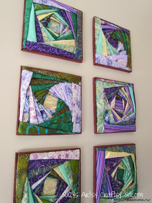 Картина из лоскутков ткани своими руками