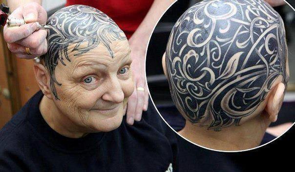 Энн МакДоналд татуировка на голове фото (604x353, 44Kb)