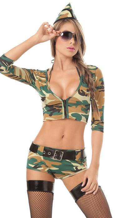 Сексуальные телочки в военной форме