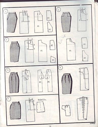 юбки схемы выкроек шитьё