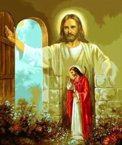 """Набор для вышивания GOBLEN-SET  """"Иисус стучится в дверь """" * Техника: гобелен* Артикул: G-518* Размер: 29,5 х 35 см..."""