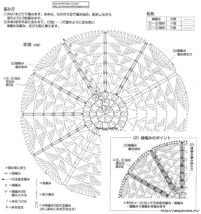 Вязание крючком. Красивая салфетка (1) (659x700, 321Kb)