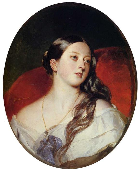 Франц Винтельхальтер. Портрет королевы Виктории, 1843_ (573x700, 90Kb)