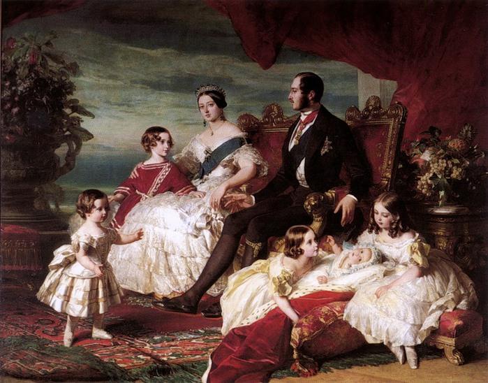 Франц Винтельхальтер. Королева Виктория, принц Альберт и их дети (700x548, 138Kb)