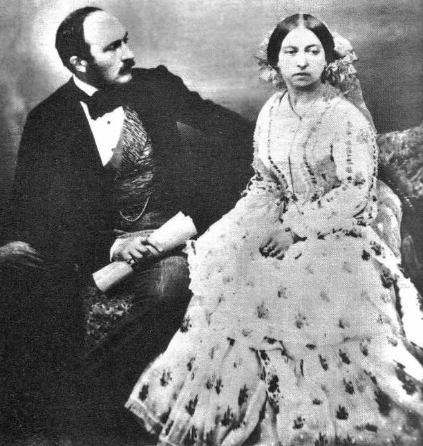 Принц Альберт и королева Виктория. Фотография (612x645, 136Kb)