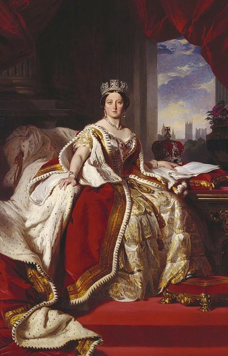 Франц Винтельхальтер. Королева Виктория, 1870 (448x700, 98Kb)