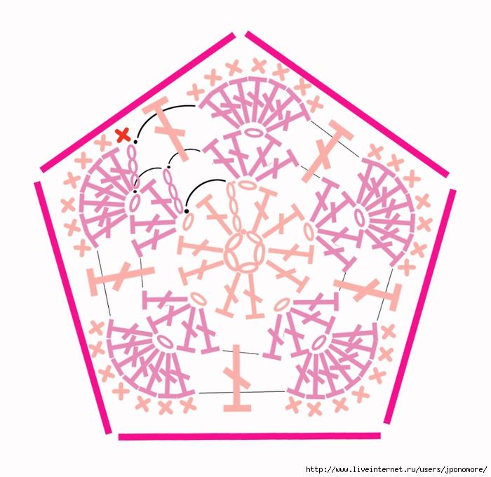 Цветочный фрагмент крючком АФРИКАНСКИЙ ЦВЕТОК для вязания игрушек (82) (400x389, 89Kb) .