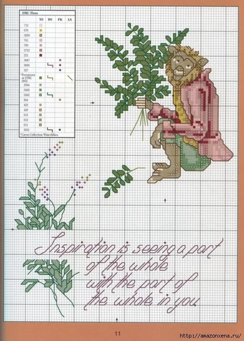 Отличный журнал вышивки Marie Barber - Cross-Stitch Florals (5) (501x700, 316Kb)