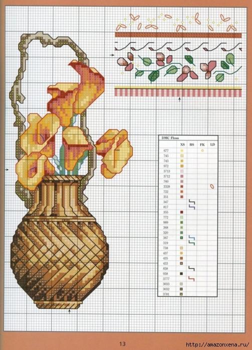 Отличный журнал вышивки Marie Barber - Cross-Stitch Florals (7) (503x700, 317Kb)