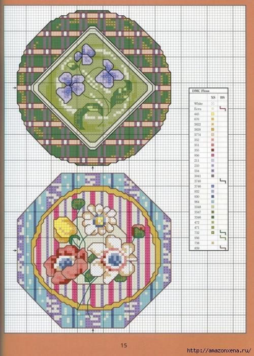 Отличный журнал вышивки Marie Barber - Cross-Stitch Florals (9) (500x700, 323Kb)