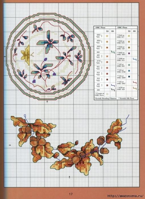 Отличный журнал вышивки Marie Barber - Cross-Stitch Florals (11) (510x700, 338Kb)