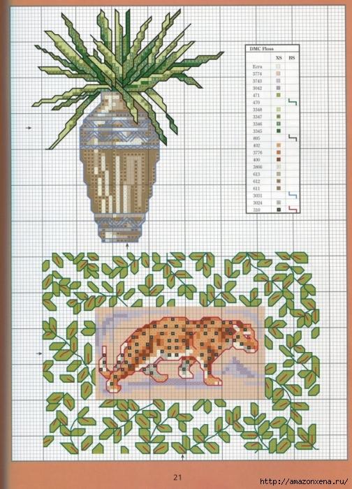 Отличный журнал вышивки Marie Barber - Cross-Stitch Florals (15) (504x700, 339Kb)