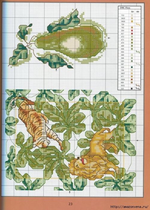 Отличный журнал вышивки Marie Barber - Cross-Stitch Florals (17) (501x700, 338Kb)