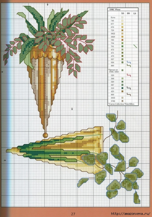 Отличный журнал вышивки Marie Barber - Cross-Stitch Florals (21) (490x700, 310Kb)