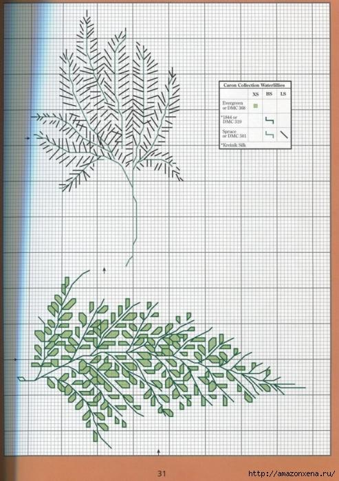 Отличный журнал вышивки Marie Barber - Cross-Stitch Florals (25) (493x700, 301Kb)
