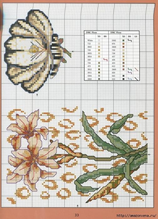 Отличный журнал вышивки Marie Barber - Cross-Stitch Florals (27) (504x700, 348Kb)
