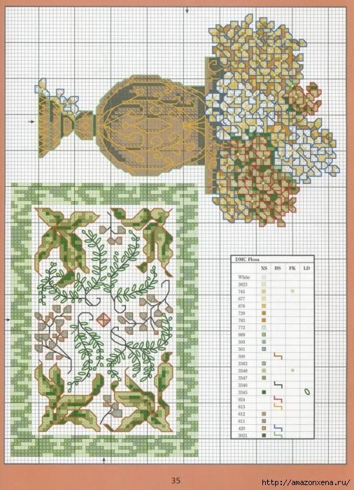 Отличный журнал вышивки Marie Barber - Cross-Stitch Florals (29) (506x700, 351Kb)