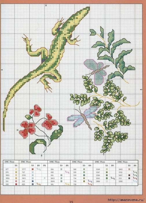 Отличный журнал вышивки Marie Barber - Cross-Stitch Florals (33) (505x700, 322Kb)