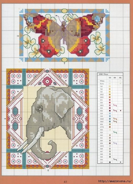 Отличный журнал вышивки Marie Barber - Cross-Stitch Florals (35) (506x700, 347Kb)