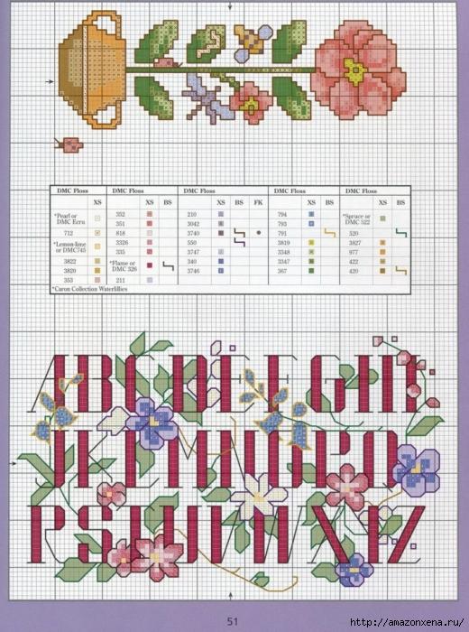 Отличный журнал вышивки Marie Barber - Cross-Stitch Florals (45) (520x700, 335Kb)