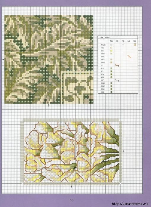 Отличный журнал вышивки Marie Barber - Cross-Stitch Florals (49) (510x700, 328Kb)