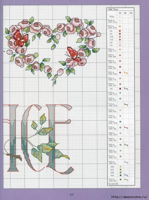 Отличный журнал вышивки Marie Barber - Cross-Stitch Florals (51) (522x700, 298Kb)