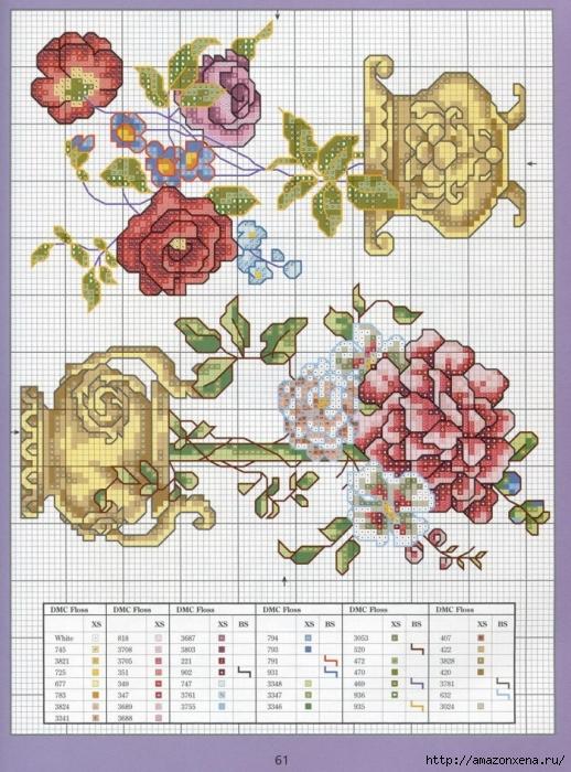Отличный журнал вышивки Marie Barber - Cross-Stitch Florals (55) (518x700, 350Kb)