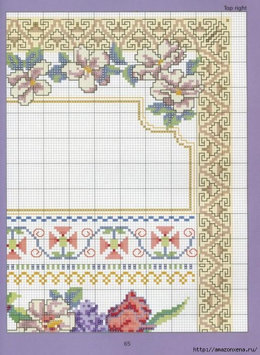 Отличный журнал вышивки Marie Barber - Cross-Stitch Florals (59) (513x700, 332Kb)