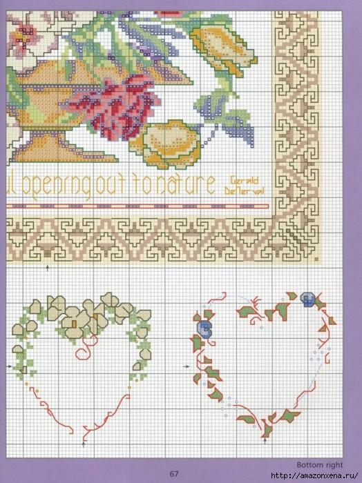 Отличный журнал вышивки Marie Barber - Cross-Stitch Florals (61) (524x700, 339Kb)