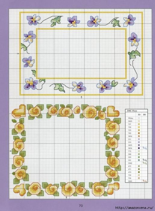 Отличный журнал вышивки Marie Barber - Cross-Stitch Florals (64) (515x700, 301Kb)