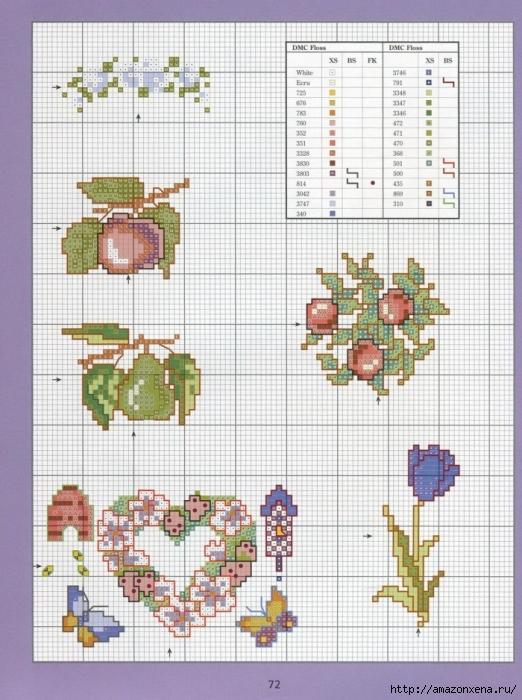 Отличный журнал вышивки Marie Barber - Cross-Stitch Florals (66) (522x700, 301Kb)