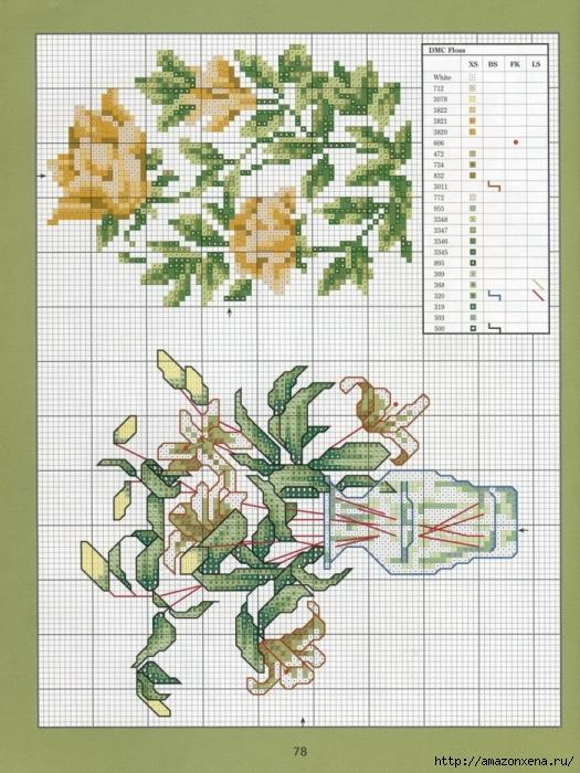 Отличный журнал вышивки Marie Barber - Cross-Stitch Florals (72) (525x700, 326Kb)