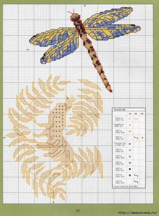 Отличный журнал вышивки Marie Barber - Cross-Stitch Florals (76) (514x700, 321Kb)