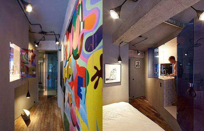 Cтиль лофт в интерьере квартиры от студии OOZE Architects 4 (700x449, 56Kb)