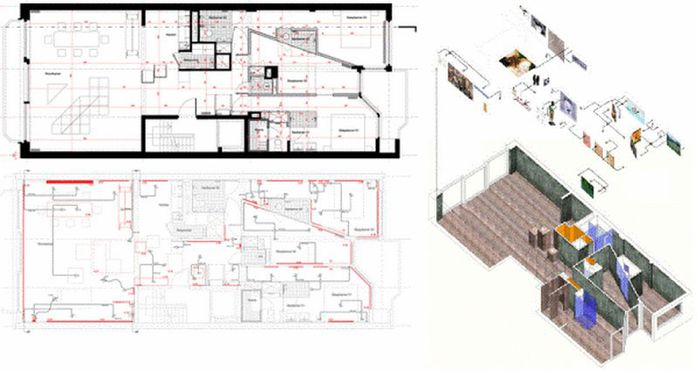 Cтиль лофт в интерьере квартиры от студии OOZE Architects 10 (700x371, 41Kb)