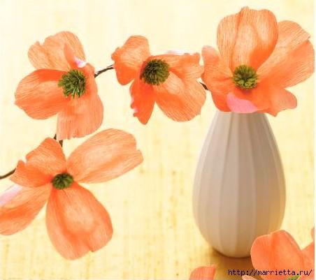 Цветы из гофрированной бумаги (1) (452x401, 96Kb)