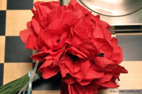 Цветы из гофрированной бумаги (12) (550x364, 101Kb)