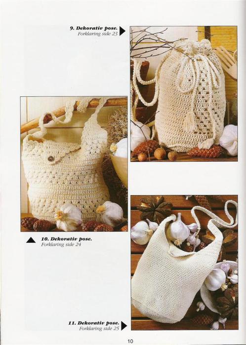 Сумочка торбочка, вязанная крючком.